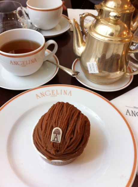 Cafe Angelina (on the first floor of Galeries Lafayette)